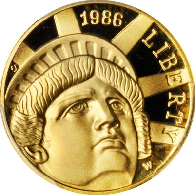 Lot of (3) 1986-W Statue of Liberty Centennial Gold $5. Proof-69 Deep