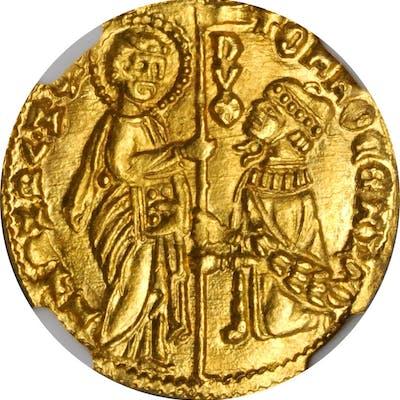 ITALY. Venice. Ducat, ND (1414-23). Tomaso Mocenigo. NGC MS-66.