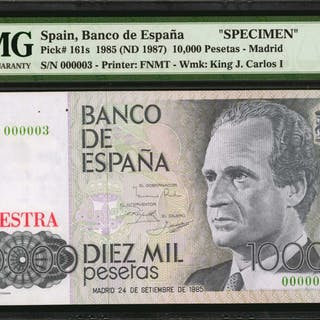 SPAIN. Banco de Espana. 200 to 10,000 Pesetas, 1985 (ND 1987). P-156s