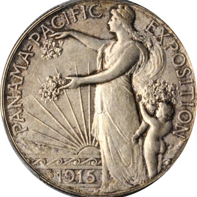 1915-S Panama-Pacific Exposition. MS-64 (PCGS).