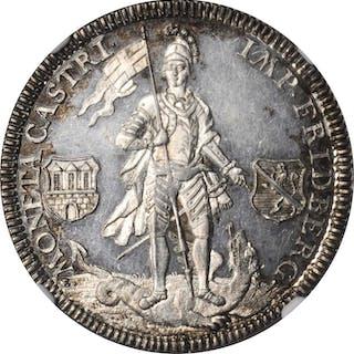 GERMANY. Friedberg. 1/2 Taler, 1766-S(N)R. Franz Heinrich von Dalberg.