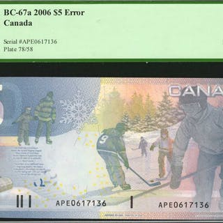 CANADA. Bank of Canada. 5 Dollars, 2006. BC-67a. PCGS Currency Superb