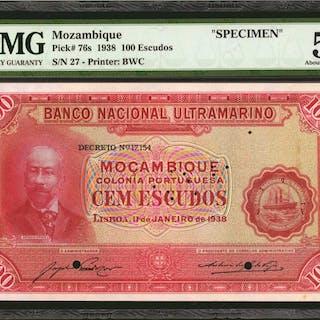 MOZAMBIQUE. Banco Nacional Ultramarino. 100 Escudos, 1938. P-76s.
