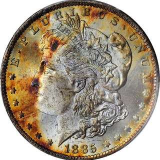 1885-O Morgan Silver Dollar. MS-65 (PCGS).