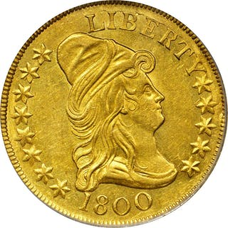 1800 Capped Bust Right Eagle. BD-1, Taraszka-23, the only known dies.