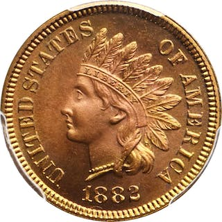 1882 Indian Cent. Snow-PR2. Proof-67 RD (PCGS).