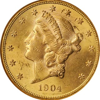 1904-S Liberty Head Double Eagle. MS-62 (NGC).