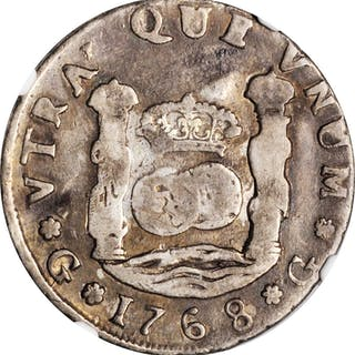 GUATEMALA. 4 Reales, 1768-G P. Guatemala Mint. Charles III. NGC FINE-15.