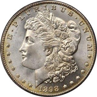 1898-O Morgan Silver Dollar. MS-67+ (PCGS). CAC.