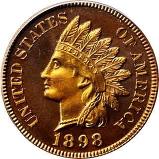 1898 Indian Cent. Snow-PR6. Proof-67 RD Cameo (PCGS). CAC.