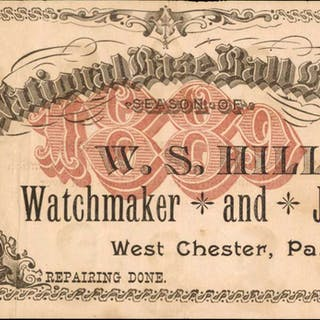West Chester, Pennsylvania. W.S. Hill, Watchmaker and Jeweler. National