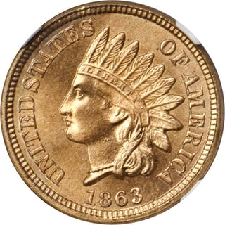 1863 Indian Cent. MS-67 (NGC).