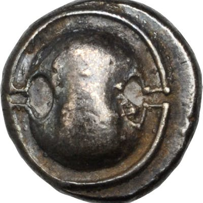 BOEOTIA. Thebes. AR Hemidrachm, ca. 425-375 B.C. NEARLY EXTREMELY FINE.