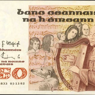 IRELAND, REPUBLIC. Central Bank of Ireland. 50 Pounds, 1982. P-74a.
