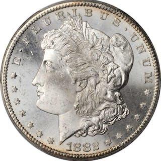 1882-CC Morgan Silver Dollar. MS-64 (PCGS).