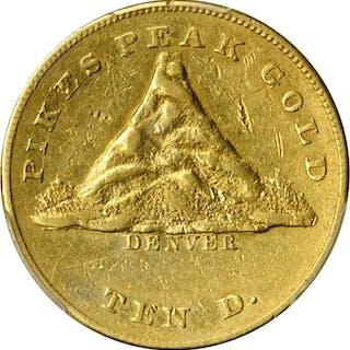 1860 Clark, Gruber & Co. $10 Gold. K-3. Rarity-5. AU Details-Altered
