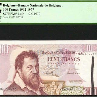 BELGIUM. Banque Nationale de Belgique. 100 Francs, 1962-77. P-134b.