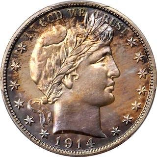 1914 Barber Half Dollar. Proof-67+ (PCGS). CAC.