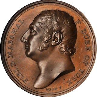 GREAT BRITAIN. Duke of York Bronze Medal, ND (1820). NGC MS-66 BN.