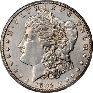 1902-S Morgan Silver Dollar. AU Details--Cleaning (PCGS).