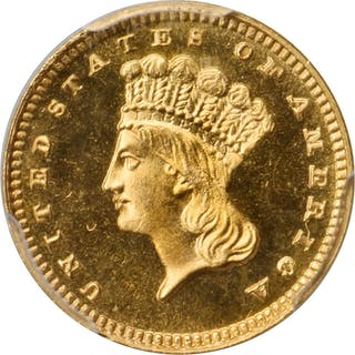 1887 Gold Dollar. Proof-66 (PCGS). CAC.