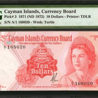 CAYMAN ISLANDS. Currency Board of the Cayman Islands. 10 Dollars