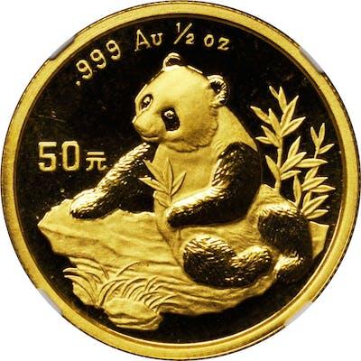 CHINA. 50 Yuan, 1998. Panda Series. NGC MS-69.