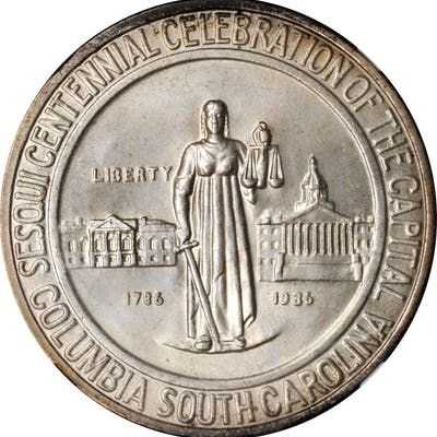 1936 Columbia, South Carolina Sesquicentennial. MS-68 (NGC).