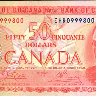 CANADA. Bank of Canada. 50 Dollars, 1975. BC-51b. Uncirculated.