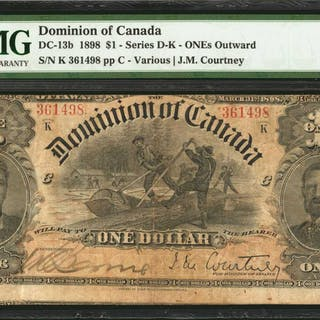 CANADA. Dominion of Canada. 1 Dollar, 1898. DC-13b. PMG Very Fine 25.