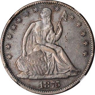 1875 Liberty Seated Half Dollar. AU Details--Damaged (NGC).