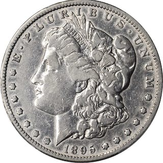 1895-O Morgan Silver Dollar. VF Details--Cleaning (PCGS).