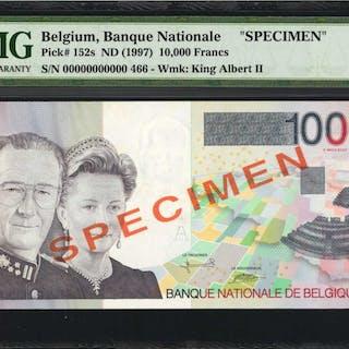 BELGIUM. Banque Nationale de Belgique. 10,000 Francs, ND (1997). P-152s.