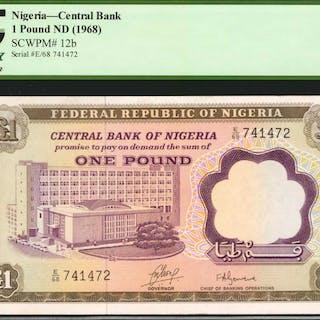 NIGERIA. Central Bank of Nigeria. 1 Pound, ND (1968). P-12b. PCGS