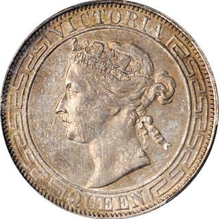 HONG KONG. 50 Cents, 1867. Victoria. PCGS AU-55 Gold Shield.