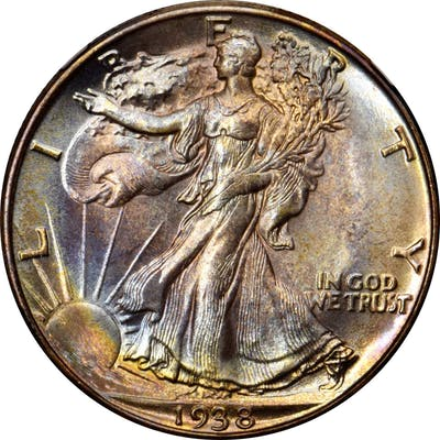 1938-D Walking Liberty Half Dollar. MS-67+ (NGC).