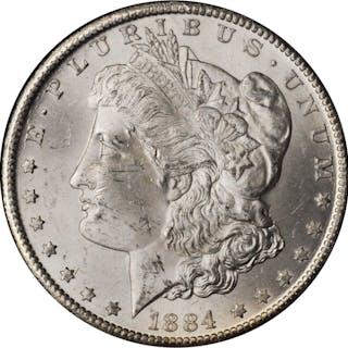 1884-CC GSA Morgan Silver Dollar. Mint State (Uncertified).