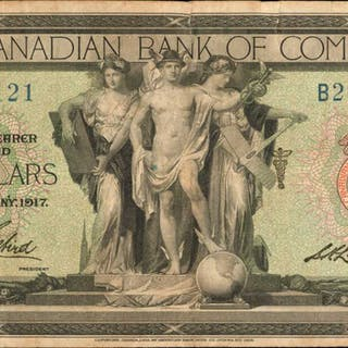 CANADA. Canadian Bank of Commerce. 5 Dollars, 1917. CH #75160406a. Fine.