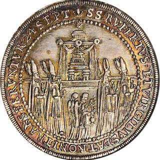 AUSTRIA. Salzburg. 1/2 Taler, 1628. Paris von Lodron. NGC MS-64.
