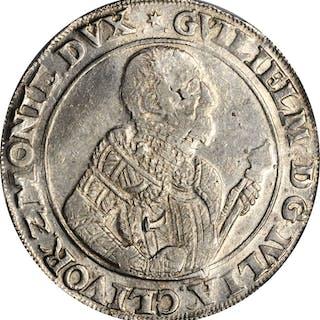 GERMANY. Julich-Berg. Taler, 1570. Wilhelm V. PCGS AU-58 Gold Shield.