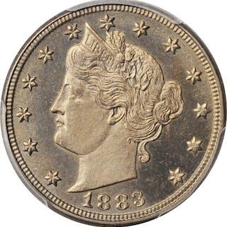 1883 Liberty Head Nickel. No CENTS. Proof-64 (PCGS).