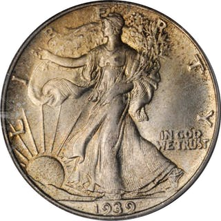 1939 Walking Liberty Half Dollar. MS-66 (PCGS).