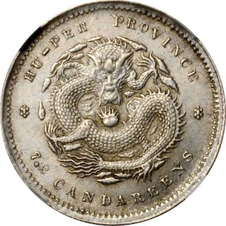 CHINA. Hupeh. 7.2 Candareens (10 Cents), ND (1895-1907). NGC MS-63.