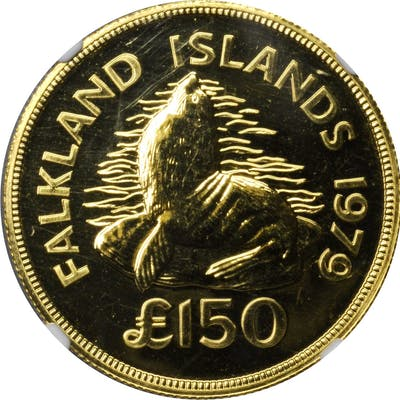 FALKLAND ISLANDS. 150 Pounds, 1979. NGC MS-64.