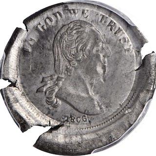 1866 Pattern Washington Five Cents. Judd-479, Pollock-569. Rarity-8.