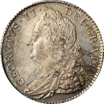 GREAT BRITAIN. 1/2 Crown, 1750. London Mint. George II. PCGS MS-63+