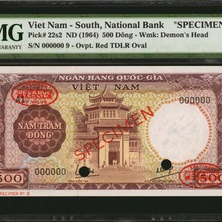 VIETNAM, SOUTH. National Bank of Vietnam. 500 Dong, ND (1964). P-22s2.