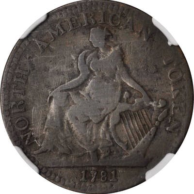"""1781"" (ca. 1820) North American Token. W-13980. Rarity-2. VG-10 BN (NGC)."