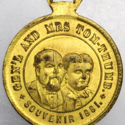 New York--New York. 1881 P.T. Barnum. Rulau NY-NY 15. Brass. 27.7