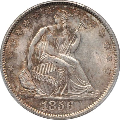 1856 Liberty Seated Half Dollar. WB-101. MS-63 (PCGS).